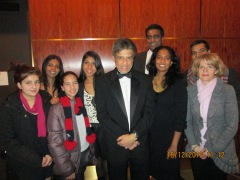 With cousins after the Carnegie Hall performance