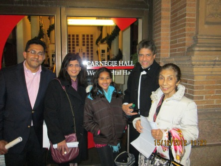 With good friends at Carnegie Hall