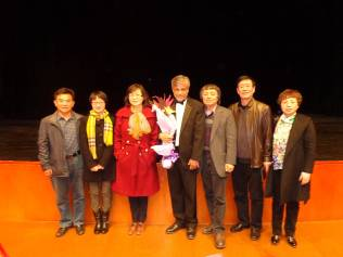 Photo taken after Dr. Abeyaratne's concert at the Gansu Grand Theater in Lanzhou, China