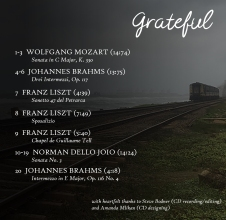 Harsha (CD back cover) , with times